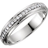 Diamond 4mm Band or Mounting