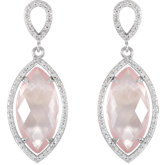 Halo-Styled Marquise Shape Dangle Earrings