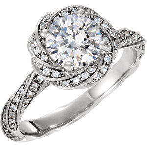 14kt White 1/A ATW Diamond Band Size
