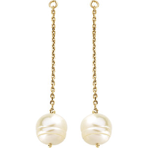 Freshwater Cultured Pearl Earring Jackets