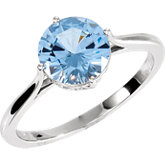 Solitaire Ring Mounting for Round Gemstone