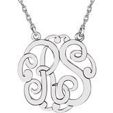 25mm 2-Letter Script Monogram Necklace