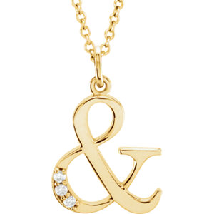 Lowercase Initial Pendant or Necklace