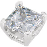 Princess/Square Vintage Scroll Setting® for Earring Assembly
