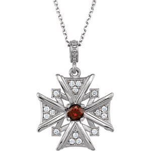 Vintage-Inspired Cross Dangle Pendant or Necklace