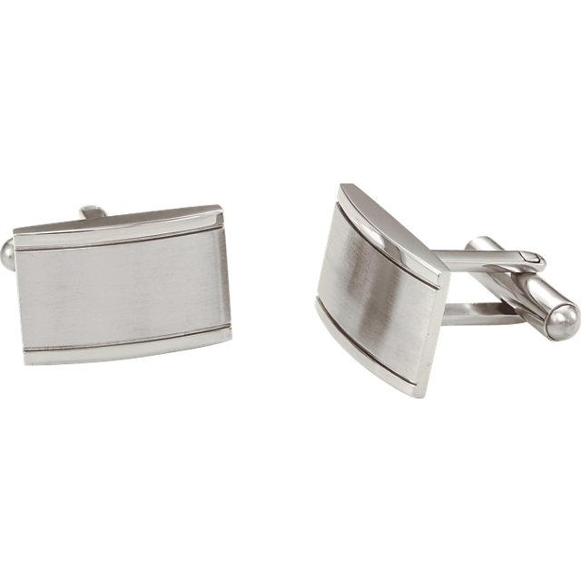 Stainless Steel Coqueture® Rectangular Cuff Links