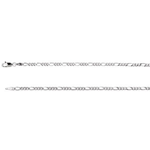 Sterling Silver Figaro Chain 2.5mm