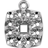 Princess/Square Halo-Style Cluster Dangle Mounting