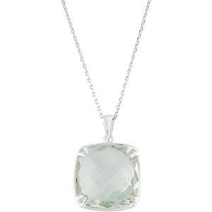 Genuine Green Quartz Necklace or Pendant
