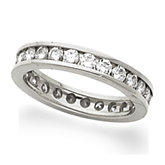 Accented Eternity Band