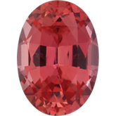Oval Lab Created Padparadscha Sapphire