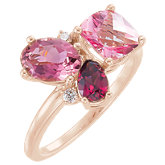 Multi-Gemstone & Diamond Cluster Ring or Mounting