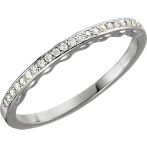 Alloy White Round Cubic Zirconia Band
