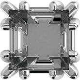 Princess/Square Fancy Prong Basket Setting for Earring Assembly