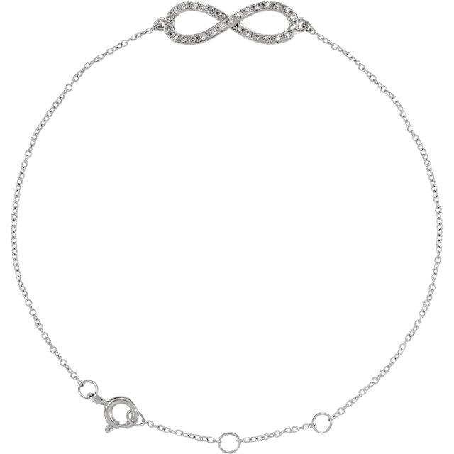 14K White 1/6 CTW Diamond Infinity-Inspired 8