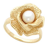 Floral Ring Mounting for 6 - 7.5 mm Pearl