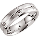 Comfort-Fit Sterling Silver Pattern Band
