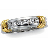 1/4 ct tw Diamond Duo Band