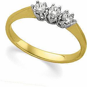 1/3 CTW Diamond 3-Stone Ring