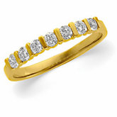 1/3 ct tw Diamond Bar Channel Anniversary Band