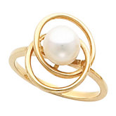 Circles Ring Mounting for 6 - 8 mm Pearl