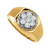 1 ct tw Gents Diamond Cluster Ring