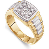 3/8 ct tw Gents Two-Tone Diamond Ring