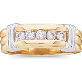 1/2 ct tw Gents Two Tone Diamond Ring