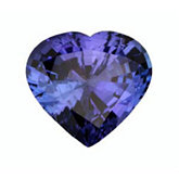 Heart Genuine Tanzanite (Black Box)