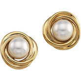 Knot Akoya Cultured Pearl Earrings