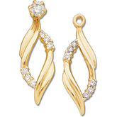1/5 ct tw Diamond Earring Jackets