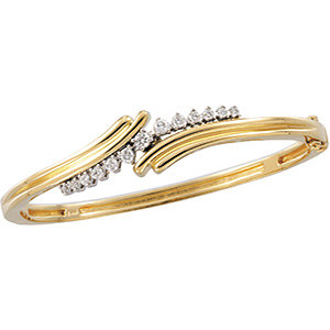 14K Two-Tone 1/2 CTW Diamond Bangle Bracelet