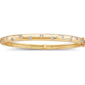 14K Yellow 1/2 CTW Diamond Bangle Bracelet