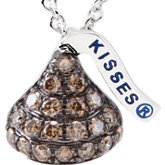 HERSHEY'S KISSES® Flat Back Brown Diamond Necklace