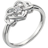 .05 ct tw Diamond Heart Ring