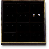 Black 12 Pair Stud Earring Tray