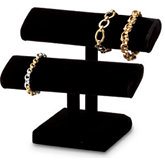 Black Velvet Oval Shaped Double Bracelet Bar