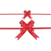 Red Satin Splendorette Pull Bows