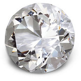 30mm Round Diamond Cut Crystal