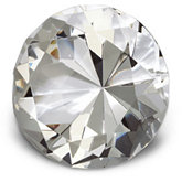 50mm Round Diamond Cut Crystal