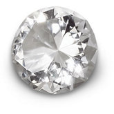 60mm Round Diamond Cut Crystal