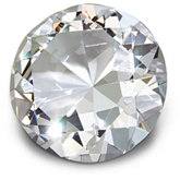 70mm Round Diamond Cut Crystal