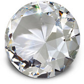80mm Round Diamond Cut Crystal