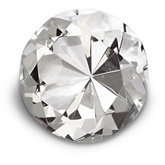 90mm Round Diamond Cut Crystal