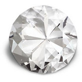 100mm Round Diamond Cut Crystal