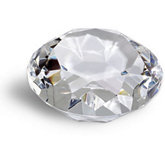 Diamond Cut Crystal with Flat Base