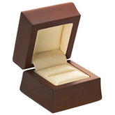 Amber Wood Ring Box