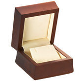 Amber Wood Earring Flap Box