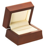 Amber Wood Double Ring Box