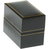 Classic Black Bangle or Watch Box